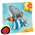 Miko Goes on Vacation: An interactive bedtime story book for kids about Miko's first beach holiday, where he enjoys swimming and making new friends, by Brigitte Weninger illustrated by Stephanie Roehe. (iPad version; by Auryn Apps)