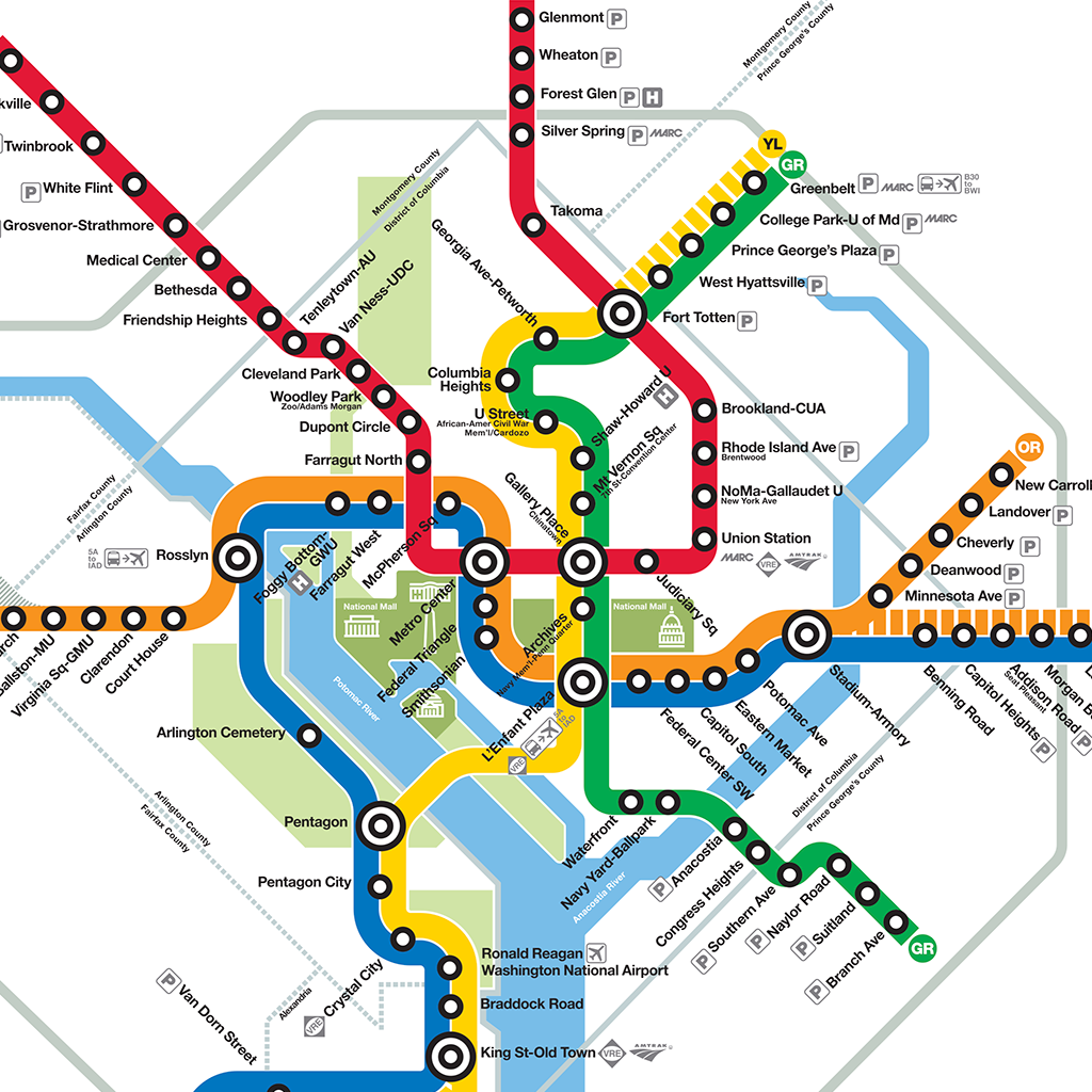 DC Metro Map for iPhone & iPad - App marketing report - United ...